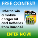 Free Contest - Win Duracell Charger and Batteries